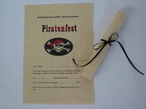 bestellung pirat, Einladung